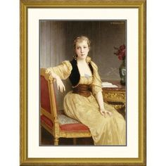 Global Gallery 'Lady Maxwell' by William-Adolphe Bouguereau Framed Painting Print Size: