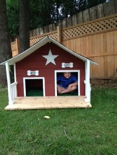 Dog House: Double Door (The Dogs Will Need Some Coaxing But My Nephew Loves