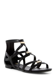 22eef9c2c Breckelle s Women s Covina-31 Strappy Flat Sandals - Black - CI185GH49CY