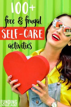 If you need a break from the craziness of life here's a list of 100 FREE self-care ideas and activities to help you finally focus on yourself. It's time to focus on your mental health. Ways To Save Money, Money Tips, Money Saving Tips, How To Make Money, Frugal Family, Frugal Living Tips, Frugal Tips, Self Care Activities, Fun Activities