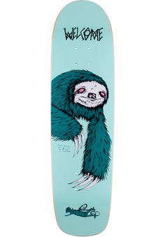 #WELCOME #Sloth Waxing #Moon #Deck #titus #skateboard #skateshop