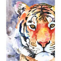 Tiger Art Print of Original Watercolor Painting 8x10