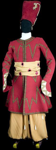 """Léon Bakst, The Ballets Russes, costume designed for """"Shéhérazade"""", 1910"""
