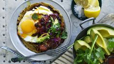 Quick chilli-fried black beans with avocado and egg Recipe Cookbook Recipes, Egg Recipes, Mexican Food Recipes, Cooking Recipes, Ethnic Recipes, Recipies, Going Vegetarian, Vegetarian Recipes, Healthy Recipes