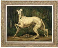 Stickvey, 20th Century  A greyhound
