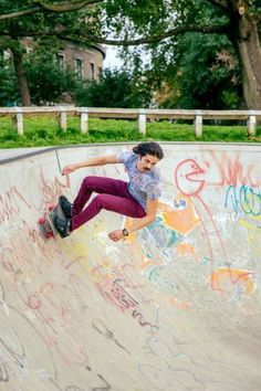 Skateboarding Clissold Park - great body-use and freedom of movement