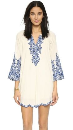 Baroque embroidery lends a bohemian feel to this gauze Love Sam shift dress