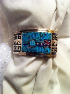 Vintage Sterling Silver Navajo Bracelet Signed (JM) James Mason & C. Nez -U.S.A. #Handmade