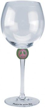 Peace Wine Glass (Set of 2) $39.99