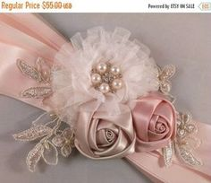SPRING SALE Champagne Blush Ivory Gold & by PetalsAndStardust