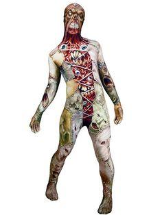Halloweendrakt fra Morphsuit med superelastisk stretch! Str M= ca 48/50 (ca 150-160 cm) L= ca 50/52( ca160-170 cm), XL= ca 54/56