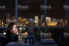 In dark office royalty-free stock photo