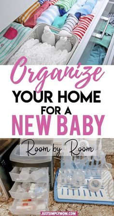 Before bringing home your new baby, it's important to arrange your house so that you have access to everything you need. You want to organize things to be most convenient for you and your newborn.