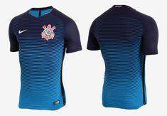 Terceira camisa do Corinthians 2016-2017 Nike Azul kit Basketball Uniforms 92d5a14e6d20f