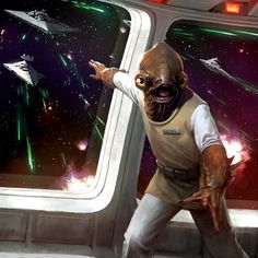 "starwars: ""Spotlight Of The Week - Admiral Ackbar: Rebel Fleet Commander "" ""It's a trap! Star Wars Fan Art, Star Wars Rpg, Star Wars Rebels, Star Wars Humor, Star Trek, Movies And Series, A New Hope, Love Stars, Chewbacca"
