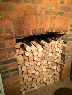 38 Best Decorative Logs Images Fire Places Firewood Alcove