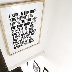 Inspirational Work Quotes : Rappers Delight Print from Fy From 18 My New Room, My Room, Rapper Delight, Honeymoon Hotels, Diy Wall Art, Decoration, Letter Board, Wonderwall, Diy Home Decor