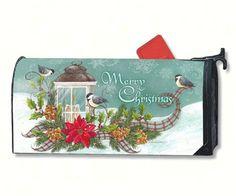 Christmas Lantern MailWrap to decorate your mailbox