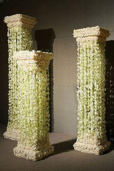 Wedding Columns and Pillars | Floral Columns| flowers, classic, sculpture, ancient greek, columns ...<3