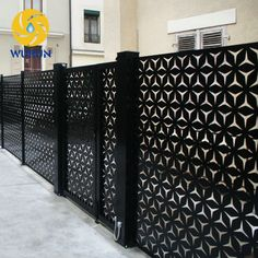 Indoor Decoration Laser Cutting Partition Used Wrought Iron Fence Panels Privacy Screen Outdoor, Outdoor Railings, Wrought Iron Fence Panels, Balcony Grill, Laser Cut Screens, Main Gate Design, Front Porch Design, Metal Screen, Door Gate