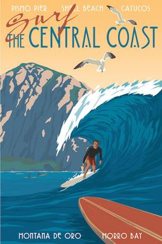 Surf the Central Coast poster | Just Looking Gallery - Steve Thomas