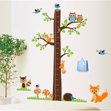 Buy Cartoon Animals Squirrel Height Scale Tree Height Measure Wall Sticker For Kids Rooms Growth Chart Nursery Room Decor Wall Art at www.babyliscious.com! Free shipping to 185 countries. 21 days money back guarantee. Large Wall Decals, Removable Wall Stickers, Kids Wall Decals, Wall Stickers Murals, Owl Tree, Bird Tree, Tree Wall Decor, Wall Art Decor, Wall Decorations