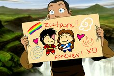 """You added a rainbow. Zuko And Katara, Avatar Zuko, Avatar Funny, Avatar Show, Danny Zuko, Cartoon Ships, Avatar The Last Airbender Art, Korrasami, Mood Pics"