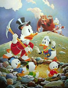 Donald Duck and Uncle Scrooge - Trespaser Will Be Ventilated by Carl Barks