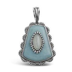 Southwest Spirit Sterling Silver Shades of Aqua Geometric Pendant Enhancer  http://electmejewellery.com/jewelry/necklaces/pendant-enhancers/southwest-spirit-sterling-silver-shades-of-aqua-geometric-pendant-enhancer-com/