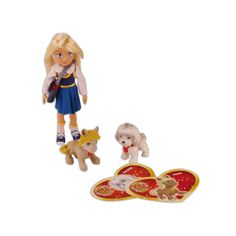 """Cuccioli Cerca Amici - Pocketville """"Flo Doll"""" with 2 pets (fashion and breeds vary) (Italy and Worldwide)"""