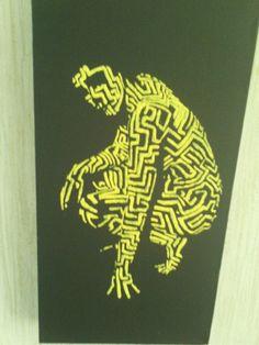 Stencil on convas