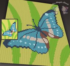 (4) Name: 'Crocheting : Butterfly C2C Graph