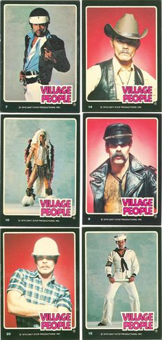 Village People 1979 Can't Stop The Music trading cards