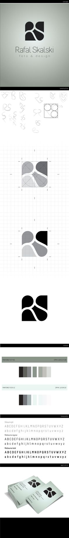 Rafal Skalski / logo / design / initials / white space / negative space / identity / sketches / process / steps to creating a logo