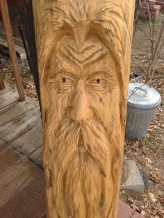 Chainsaw Carving Four Foot Tall WOOD SPIRIT By The by RCWaitsArt, $125.00