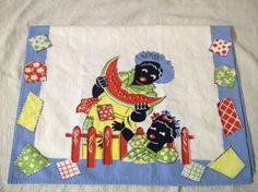 Vintage Dish Towel, Black Americana, Tea Towel, Hand Towel, Vintage Linens