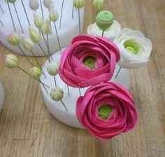 The Petalsweet Blog: Sugar Flower Ranunculus and Gardenias