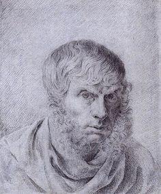 Caspar David Friedrich self-portrait (1810)