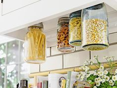 Kitchen Storage   10 Truly Excellent Ways To Use Mason Jars  A few new ways to put those quintessential hipster drinking vessels to good use. posted on March 24, 2014
