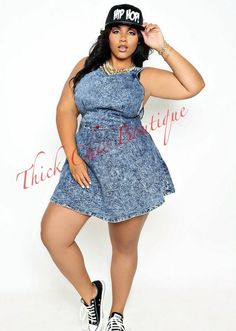 Denim Play Dress, $38.50 by Thick Chic Boutique