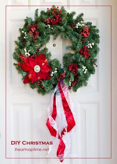 DIY Christmas wreath I Heart Nap Time | I Heart Nap Time - Easy recipes, DIY crafts, Homemaking