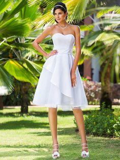 Lanting Bride® Linea-A / Da principessa Petite / Taglie forti Abito da sposa - Classico / Moderno / Da ricevimento Al ginocchio A cuore - EUR €107.79