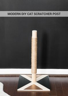 Learn how to make a modern DIY cat scratcher post!