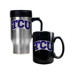 TCU Horned Frogs 2-pc. Stainless Steel Mug and Ceramic Mug Set, Multicolor