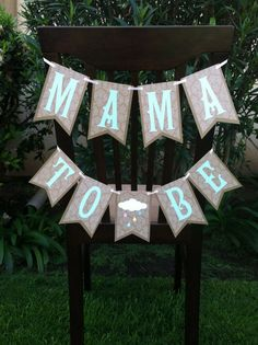Shabby Chic gender neutral baby shower banner