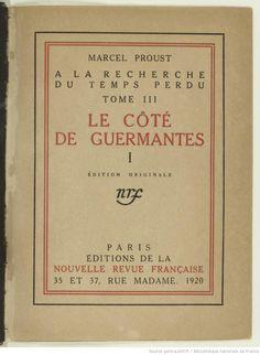 À la recherche du temps perdu. Le côté de Guermantes, tome I / Marcel Proust