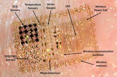 Temporary tattoos could make electronic telepathy and telekinesis possible, according to electrical engineer Todd Coleman from the University of California, San Diego, who is making noninvasive ways of controlling machines via the brain. Wireless, flexible electronics applied to the forehead to read brain activity.