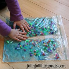 Moses and the Red Sea Sensory Bag Activity - Toddler Bible Activities Sea Crafts Preschool, Preschool Bible Activities, Nursery Activities, Vbs Crafts, Toddler Activities, Bible Story Crafts, Bible School Crafts, Sunday School Crafts, Moses Bible Crafts