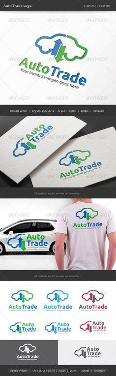 Auto Car Trade Logo — Vector EPS #company #exchange • Available here → https://graphicriver.net/item/auto-car-trade-logo/8329810?ref=pxcr