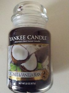 Yankee Candle 'Coconut & Vanilla Bean' Deerfield label jar | eBay